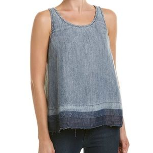 Michael Stars back button down chambray top